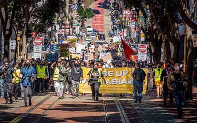 Hundreds march in San Francisco in support of the AAPI communities