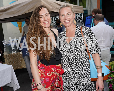 Ariel Metzger, Laura Gail. Photo by Tony Powell. 2021 Transformer Collector's View Series Launch Party. Comet Ping Pong. June 8, 2021