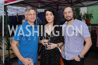 Matt Proper, Jennifer Sakai, Ryan Hadley. Photo by Tony Powell. 2021 Transformer Collector's View Series Launch Party. Comet Ping Pong. June 8, 2021