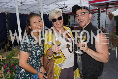 Katie Lee, Adriana MacGregor, Alexander D'Agostino. Photo by Tony Powell. 2021 Transformer Collector's View Series Launch Party. Comet Ping Pong. June 8, 2021