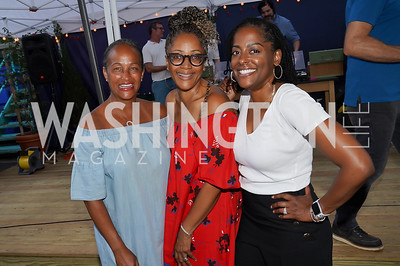 Erika  Martin Bolden, Lisa Brown, Sylvia Davis White. Photo by Tony Powell. 2021 Transformer Collector's View Series Launch Party. Comet Ping Pong. June 8, 2021