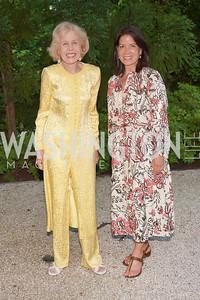 Ann Nitze, Sandra Flax. Photo by Tony Powell. WNO POPera. Cafritz Residence. May 18, 2021
