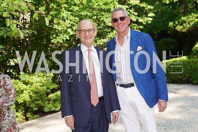 Bill Nitze, Ross Flax. Photo by Tony Powell. WNO POPera. Cafritz Residence. May 18, 2021