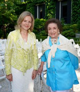 Renee Fleming, Lucky Roosevelt. Photo by Tony Powell. WNO POPera. Cafritz Residence. May 18, 2021