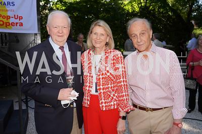Guillermo and Cecilia Schultz, Maximo Flugelman. Photo by Tony Powell. WNO POPera. Cafritz Residence. May 18, 2021