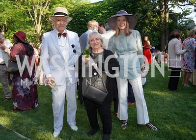 Bruce Ross-Larson, WNO Italian Coach Maddalena Borea, Shelley Ross-Larson. Photo by Tony Powell. WNO POPera. Cafritz Residence. May 18, 2021