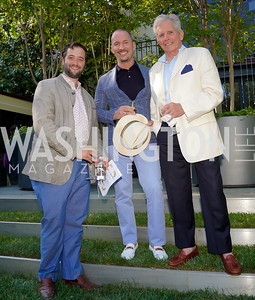Sam Gelber, Eric Larsen, Billy Cox. Photo by Tony Powell. WNO POPera. Cafritz Residence. May 18, 2021