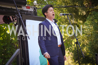 Duke Kim. Photo by Tony Powell. WNO POPera. Cafritz Residence. May 18, 2021