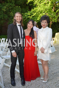 Nick Luby and Susan Zhang, Michele Kang. Photo by Tony Powell. WNO POPera. Cafritz Residence. May 18, 2021