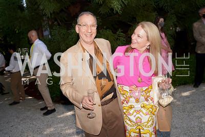 Alan Savada, Robin Sagoskin. Photo by Tony Powell. WNO POPera. Cafritz Residence. May 18, 2021