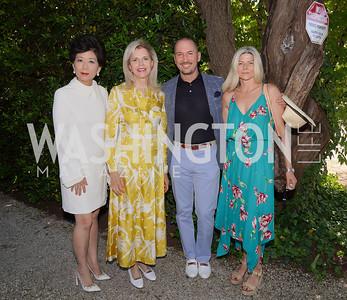 Michele Kang, Jane Cafritz, Eric and Susi Larsen. Photo by Tony Powell. WNO POPera. Cafritz Residence. May 18, 2021