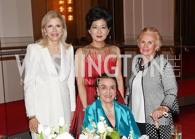Jane Cafritz, Michele Kang, Lucky Roosevelt, Jacqueline Badger Mars. Photo by Tony Powell. 2021 WNO Gala. Kennedy Center. June 12, 2021