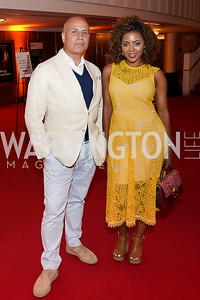 A. Mark Neuman, Mele Melton. Photo by Tony Powell. 2021 WNO Gala. Kennedy Center. June 12, 2021