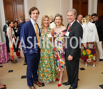William and Catherine Snyderwine, Christie and Jeff Weiss. Photo by Tony Powell. 2021 culturefix. Meridian International Center. June 9, 2021