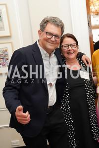 Artist Fred Tomaselli, Laura Miller. Photo by Tony Powell. 2021 culturefix. Meridian International Center. June 9, 2021