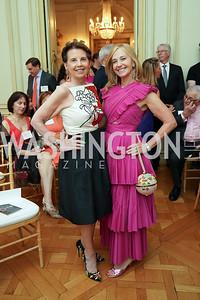 Adrienne Arsht, Randi Levine. Photo by Tony Powell. 2021 culturefix. Meridian International Center. June 9, 2021