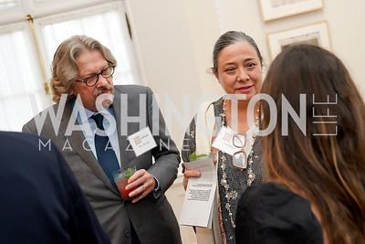 Kerry Brougher, Nora Halpern. Photo by Tony Powell. 2021 culturefix. Meridian International Center. June 9, 2021
