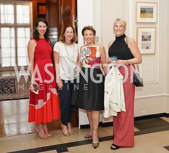 Natalie Jones, Lee Satterfield, Adrienne Arsht, Paige Ennis. Photo by Tony Powell. 2021 culturefix. Meridian International Center. June 9, 2021
