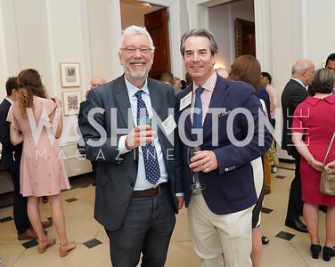 Belgium Ambassador Jean-Arthur Régibeau, Stuart Holliday. Photo by Tony Powell. 2021 culturefix. Meridian International Center. June 9, 2021