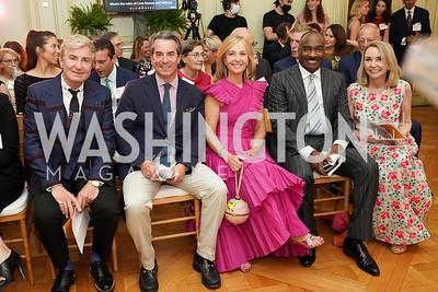 Jean-Yves Thibaudet, Stuart Holliday, Randi Levine, Reggie Van Lee, Megan Beyer. Photo by Tony Powell. 2021 culturefix. Meridian International Center. June 9, 2021