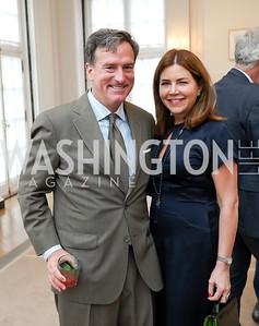 Bruce Friedman, Maria-Elena Carrion. Photo by Tony Powell. 2021 culturefix. Meridian International Center. June 9, 2021