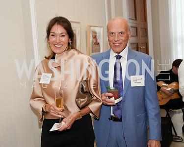 Debra Kraft Liberatore and Robert Libertore. Photo by Tony Powell. 2021 culturefix. Meridian International Center. June 9, 2021