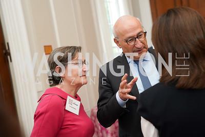 Patricia Étienne and France Ambassador Philippe Étienne. Photo by Tony Powell. 2021 culturefix. Meridian International Center. June 9, 2021