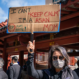 AAPI Protest Rally in Portsmouth Square - Photo: ○Steve Disenhof 2021