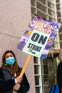 Local 87 Supported by other unions, on strike for safer conditions, benefits and fair pay