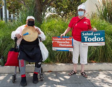 Health Care for All Rally, Palo Alto, 7 Aug 2021