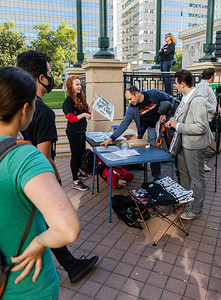 The action table, where people sign up for further actions (Bruce Lescher)