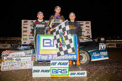 Devin Moran (L), Kyle Larson (C) and Mike Marlar (R)