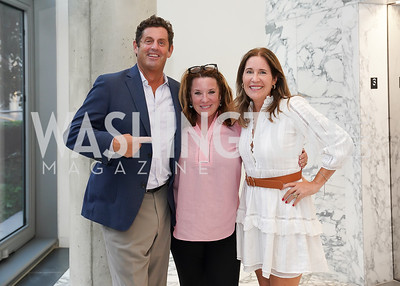 """Steve Ross, Kimball Stroud, Elizabeth Thorp. Photo by Tony Powell. Amy Argetsinger """"There She Was"""" Book Party. Conrad Hotel. September 14, 2021"""