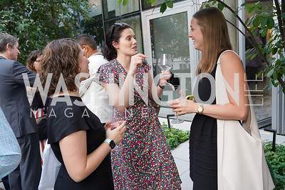 """Jenna Sauber, Justine Morgan, Ann Griffin. Photo by Tony Powell. Amy Argetsinger """"There She Was"""" Book Party. Conrad Hotel. September 14, 2021"""
