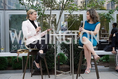 """Pamela Brown, Amy Argetsinger. Photo by Tony Powell. Amy Argetsinger """"There She Was"""" Book Party. Conrad Hotel. September 14, 2021"""