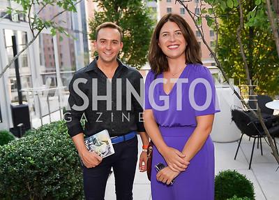 "Tommy McFly, Christina Tkacik. Photo by Tony Powell. Amy Argetsinger ""There She Was"" Book Party. Conrad Hotel. September 14, 2021"