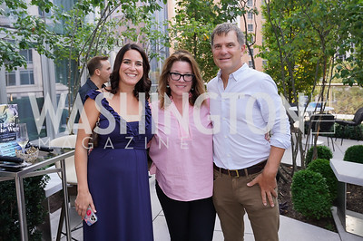 """Kendra Lamy, Kimball Stroud, Todd Flournoy. Photo by Tony Powell. Amy Argetsinger """"There She Was"""" Book Party. Conrad Hotel. September 14, 2021"""