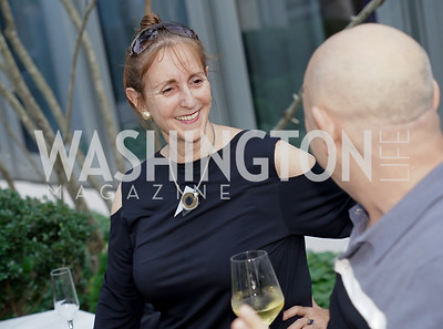 """Annie Groer, David Hagedorn. Photo by Tony Powell. Amy Argetsinger """"There She Was"""" Book Party. Conrad Hotel. September 14, 2021"""