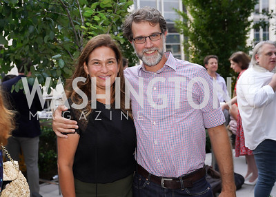 """Ilyse Hogue and John Neffinger. Photo by Tony Powell. Amy Argetsinger """"There She Was"""" Book Party. Conrad Hotel. September 14, 2021"""