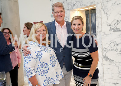 """Gloria Dittus, Steve Clemons, Lauren Leader. Photo by Tony Powell. Amy Argetsinger """"There She Was"""" Book Party. Conrad Hotel. September 14, 2021"""