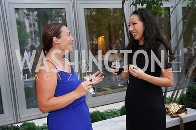 """Jane Argetsinger, Caroline Weinroth. Photo by Tony Powell. Amy Argetsinger """"There She Was"""" Book Party. Conrad Hotel. September 14, 2021"""