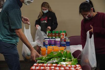 Gardner-Webb HSA packs food for children in need.