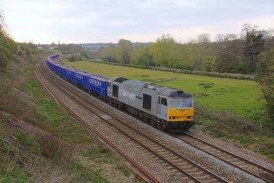 60046 Hungerford 21/04/21 6Z24 Bristol Freightliner Terminal to Willesden DC  Rail Sidings