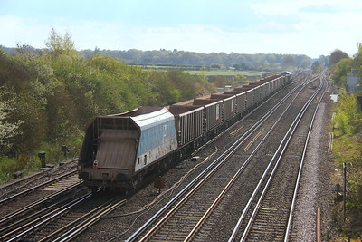 JHA Worting Junction 29/04/21 7V12 Woking Down Yard to Merehead (presumably being used due to a shortage of screw coupling fitted wagons)