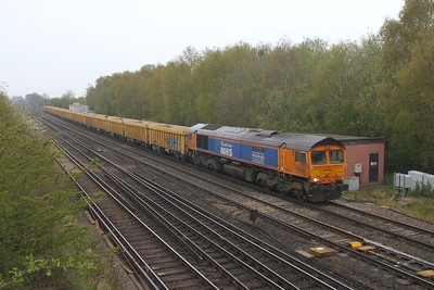 66731 Worting Junction 28/04/21 6M26 Eastleigh to Mountsorrel