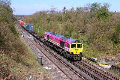 66587 Popham 24/04/21 4O29 Crewe Basford Hall to Southampton