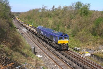 66791 Popham 24/04/21 6G11 Reading Spur Junction to Eastleigh