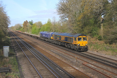 66741 Old Basing 26/04/21 6Y48 Eastleigh to Hoo Junction with 66791
