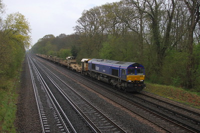 66791 Old Basing 28/04/21 6Y42 Hoo Junction to Eastleigh