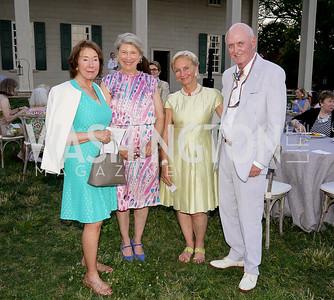 Frances Wheeler, Gay Barclay, Nancy and David Morgan. Photo by Tony Powell. Becoming Mount Vernon. June 6, 2021